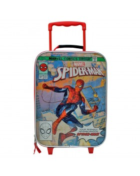 """Marvel Spiderman Rolling 18"""" Softside Carry On Junior Suitcase"""