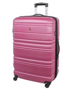 "Swiss Gear 28"" Spinner Expandable Luggage Migration Magenta"