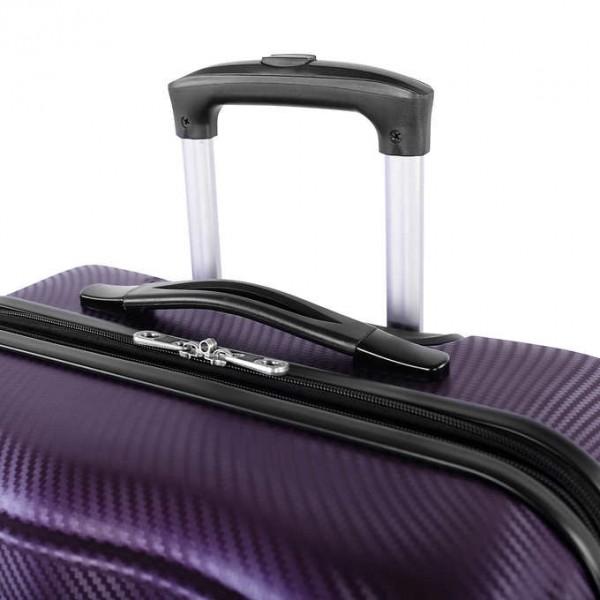"Atlantic Destination II 24"" Spinner Expandable Luggage Purple"