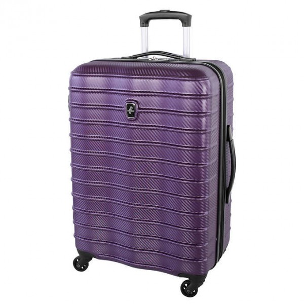 "Atlantic Destination II 24"" Spinner Expandable Luggage Purple"