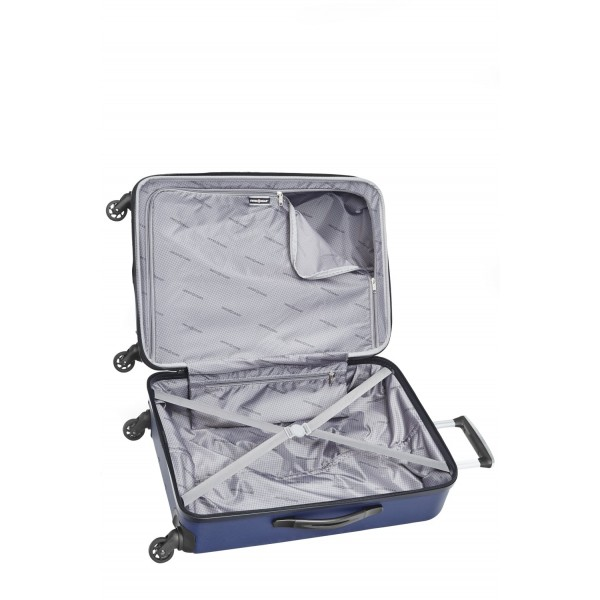 """Swiss Gear 3D Lite 24"""" Hard Side Spinner Expandable Luggage Blue"""