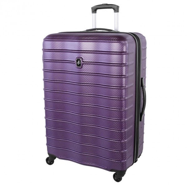 "Atlantic Destination II 28"" Spinner Expandable Luggage Purple"