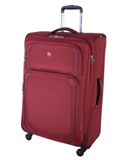 "Swiss Gear 28"" Spinner Expandable Luggage Clariden Red"