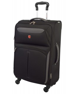 "Swiss Gear 24"" Spinner Expandable Luggage Monte Breva Black/Grey"