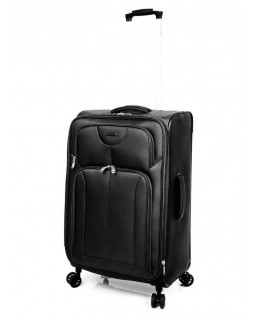 "Ricardo Beverly Hills 24"" Expandable Spinner Luggage Newport Black"