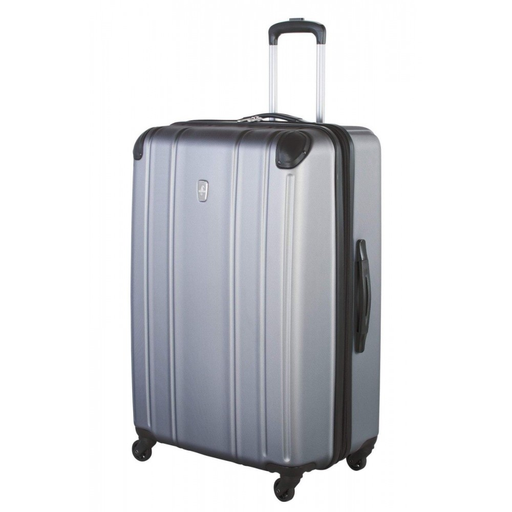"Atlantic 28"" Spinner Expandable Luggage Odyssey Silver"