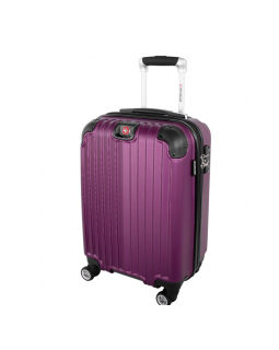 "Swiss Gear St. Moritz 2 20"" Spinner Carry-On Luggage Purple"