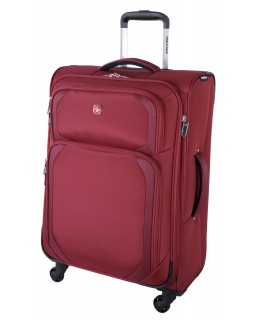 "Swiss Gear 24"" Spinner Expandable Luggage Clariden Red"