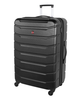 "Swiss Gear 28"" Spinner Expandable Luggage Vaiana Black"