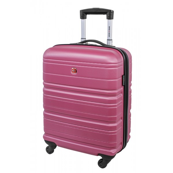 """Swiss Gear 20"""" Spinner Carry-On Luggage Migration Magenta"""