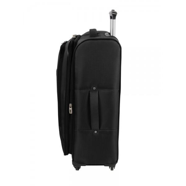 """Atlantic Optima 24"""" Spinner Expandable Luggage Black"""