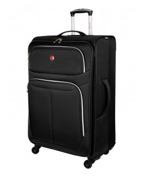 """Swiss Gear Light Flyer 28"""" Spinner Expandable Luggage Black"""