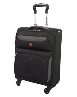 "Swiss Gear 20"" Spinner Expandable Luggage Monte Breva Black/Grey"