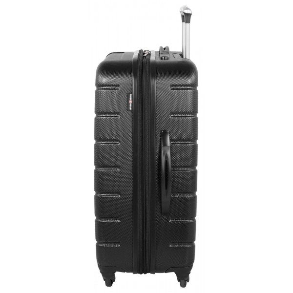 "Swiss Gear 24"" Spinner Expandable Luggage Vaiana Black"