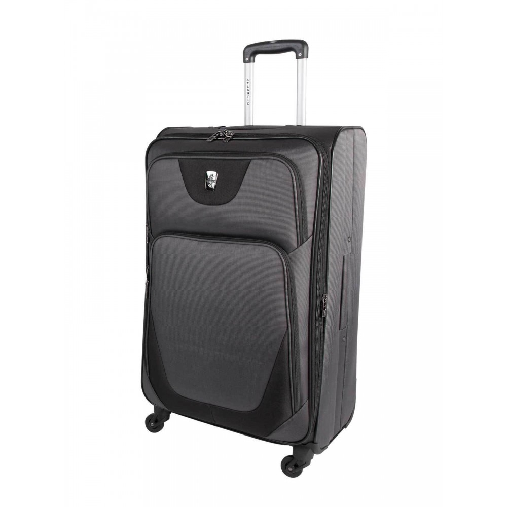 """Atlantic 28"""" Spinner Expandable Luggage Necessity Charcoal/Black"""