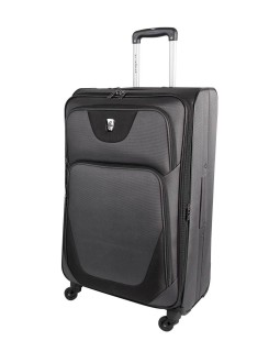 "Atlantic 28"" Spinner Expandable Luggage Necessity Charcoal/Black"