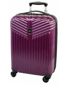 "Atlantic Priority 3 20"" Spinner Carry on Luggage Purple"