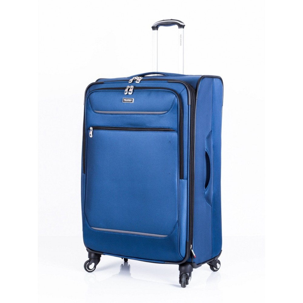 "Ricardo Beverly Hills 28"" Expandable Spinner Luggage Santa Barbara Blue"