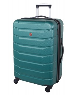 "Swiss Gear 24"" Spinner Expandable Luggage Vaiana Teal"