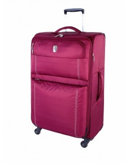 "Atlantic 28"" Spinner Expandable Luggage Velocity Lite Raspberry"
