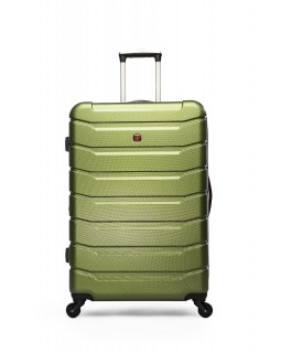 "Swiss Gear 24"" Spinner Expandable Luggage Vaiana Moss"