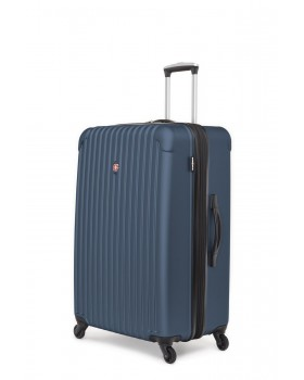 """Swiss Gear Linigno 28"""" Hard Side Spinner Expandable Luggage Blue"""