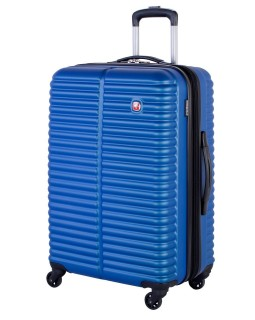 "Swiss Gear 24"" Spinner Expandable Luggage Monthey Royal Blue"