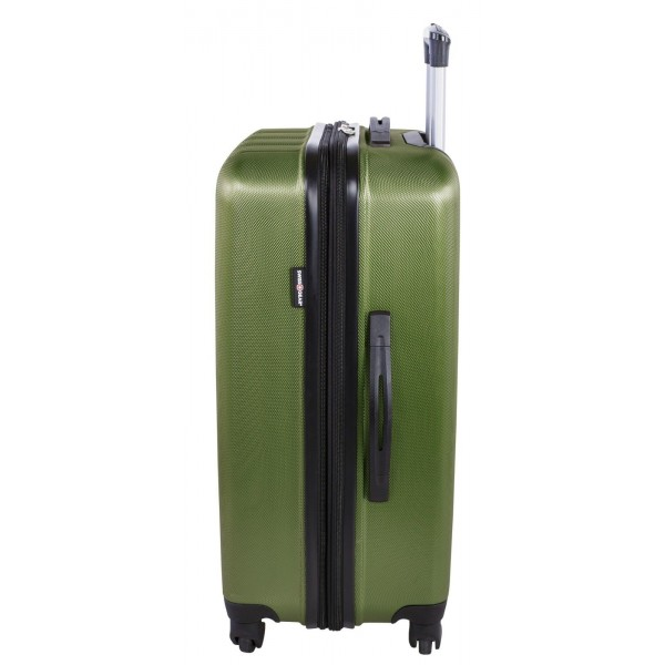 "Swiss Gear 24"" Spinner Expandable Luggage Travelite Green"