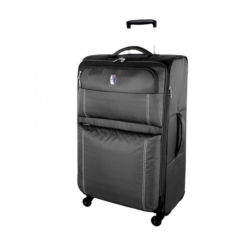 """Atlantic 28"""" Spinner Expandable Luggage Velocity Lite Charcoal"""