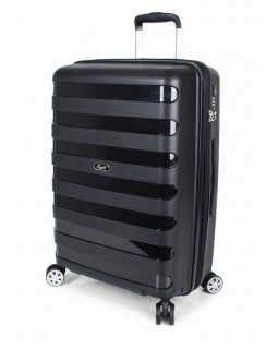 "Rosetti Autumn Breeze 24"" Spinner Expandable Luggage Black"