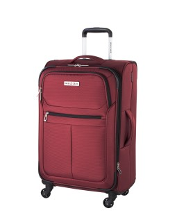 "Swiss Gear Mendrisio 24"" Soft Side Spinner Expandable Luggage Red"