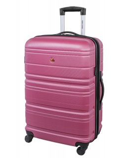 Swiss Gear 24″ Spinner Expandable Luggage Migration Magenta