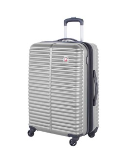 "Swiss Gear 24"" Spinner Expandable Luggage Monthey Silver"