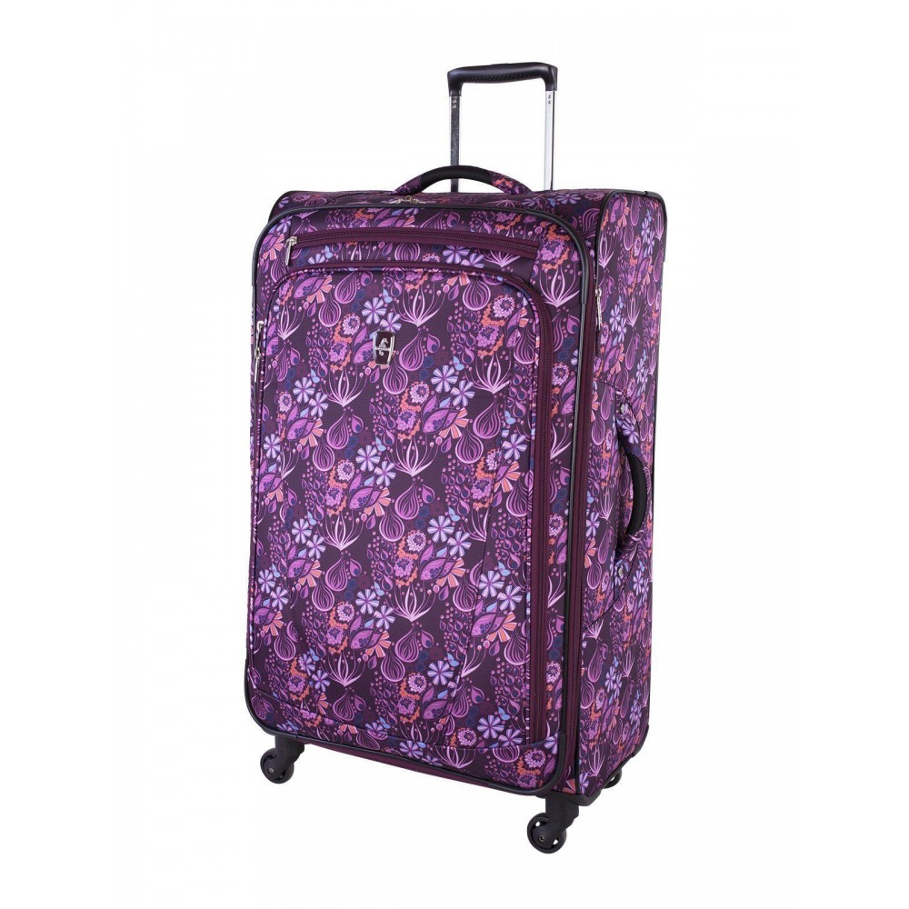 """Atlantic 29"""" Spinner Expandable Luggage Infinity Lite 2 Magenta"""