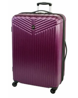 "Atlantic Priority 3 28"" Spinner Expandable Luggage Purple"