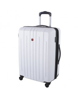 "Swiss Gear 28"" Spinner Expandable Luggage Blackcomb White"