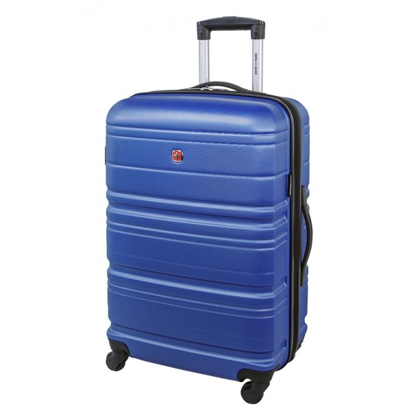 Swiss Gear 24″ Spinner Expandable Luggage Migration Royal Blue