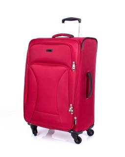 "Ricardo Beverly Hills 24"" Expandable Spinner Luggage Huntington  Red"