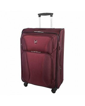 "Atlantic Medallion 28"" Spinner Expandable Luggage Burgundy"