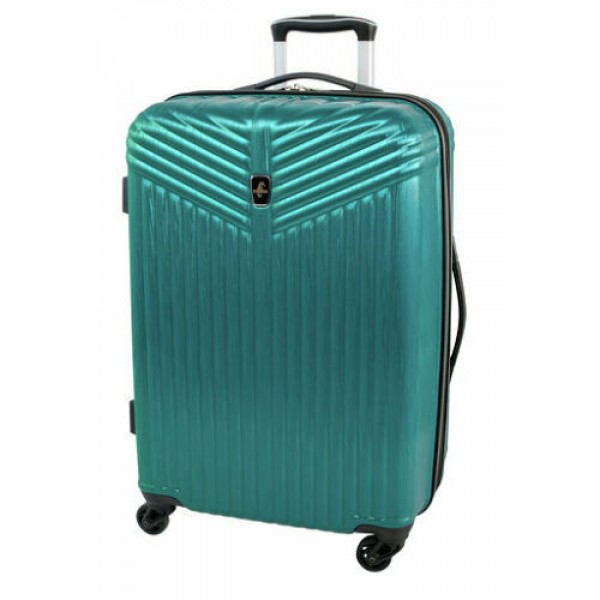 """Atlantic Priority 3 24"""" Spinner Expandable Luggage Blue"""