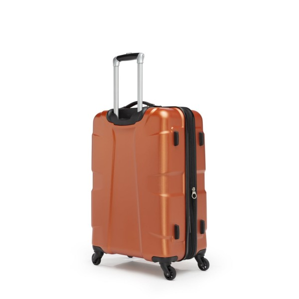 """Swiss Gear Cote D'Azure 24"""" Spinner Expandable Luggage Orange"""