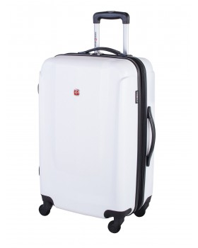 "Swiss Gear 24"" Spinner Expandable Luggage Turbo II White"