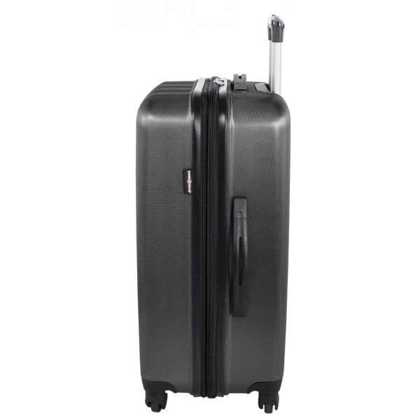 """Swiss Gear 24"""" Spinner Expandable Luggage Travelite Dark Charcoal"""