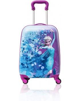 "Disney Frozen Kids Hardside 18"" Rolling Spinner Junior Suitcase"