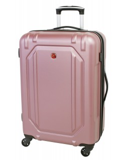 "Swiss Gear 24"" Spinner Expandable Luggage Escapade 3 Dusty Rose"