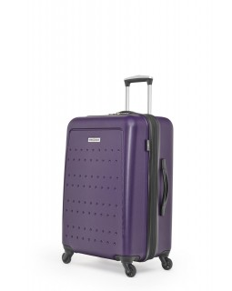 "Swiss Gear 3D Lite 24"" Hard Side Spinner Expandable Luggage Purple"
