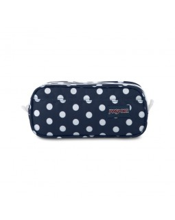 JanSport Large Accessory Pouch Dark Denim Polka Dot