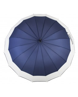 Knirps Belami Stick Umbrella with Shoulder Strap Navy/White