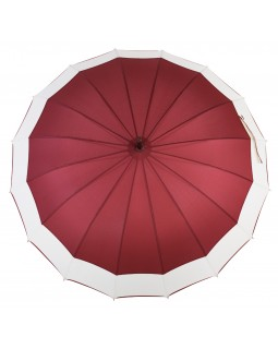 Knirps Belami Stick Umbrella with Shoulder Strap Burgundy/White