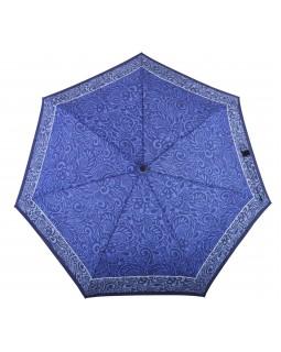 Derby Hit Mini Automatic Open Folding Telescopic Umbrella Flower Blue